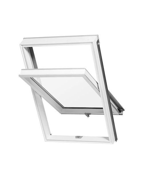 RoofLITE DURO APX 700 C4A White PVC Centre Pivot Roof Window 55x98cm