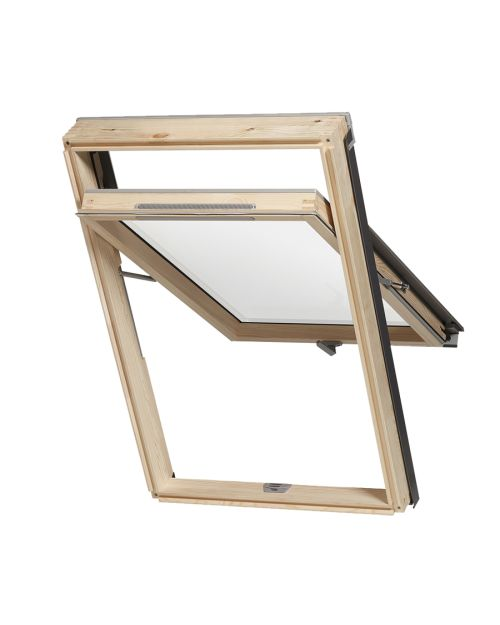 RoofLITE MOE B1000 M8A Pine Means of Escape Roof Window 78x140cm