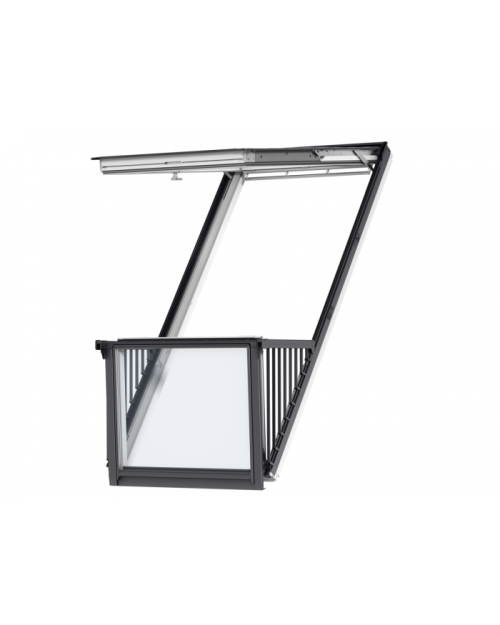 VELUX GDL PK19 SD0L001 White Paint Single Balcony for Slate 94x252cm