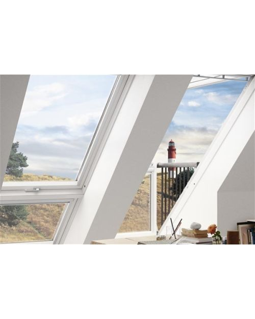 VELUX CABRIO GDL SK19 SK0W224 WHITE PAINT DOUBLE BALCONY FOR TILE 198X252CM